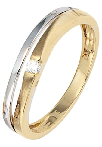 JOBO Goldring, 333 Gelbgold Weißgold mit Zirkonia kaufen