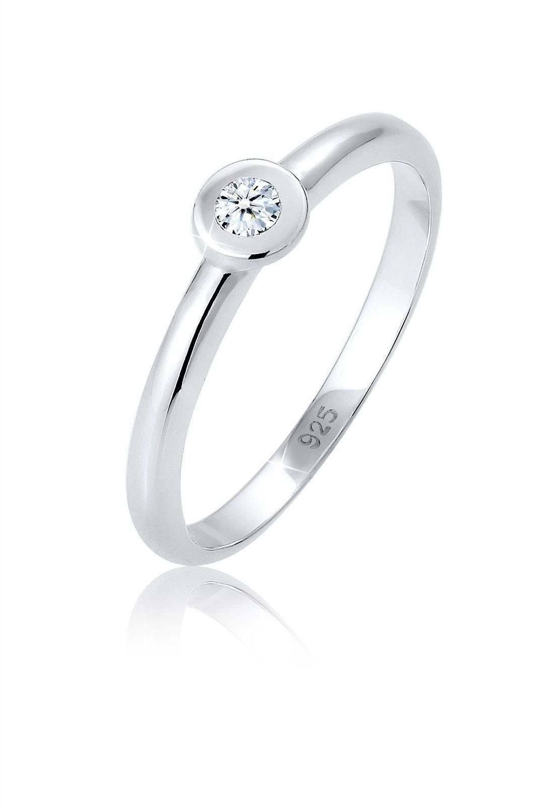 Diamore Diamantring Solitär Verlobung Diamant (006 ct) 925 Silber | Schmuck > Ringe | Diamore