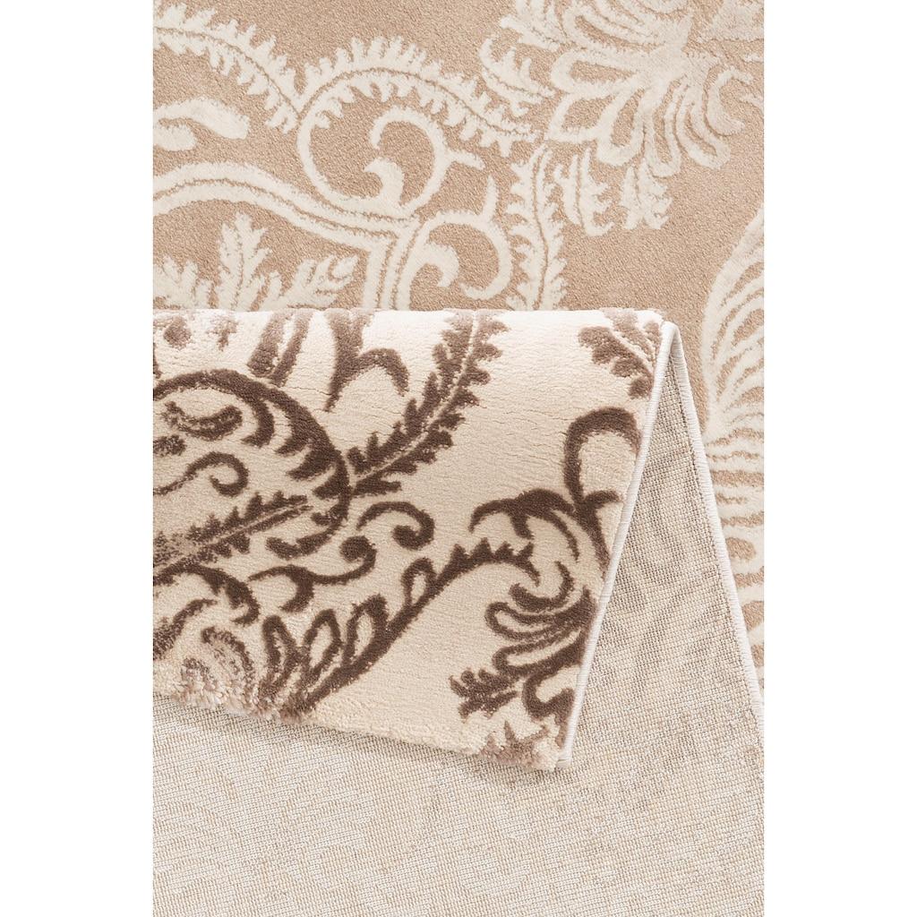merinos Teppich »Bahar«, rechteckig, 12 mm Höhe, Vintage Design, Hoch-Tief-Struktur