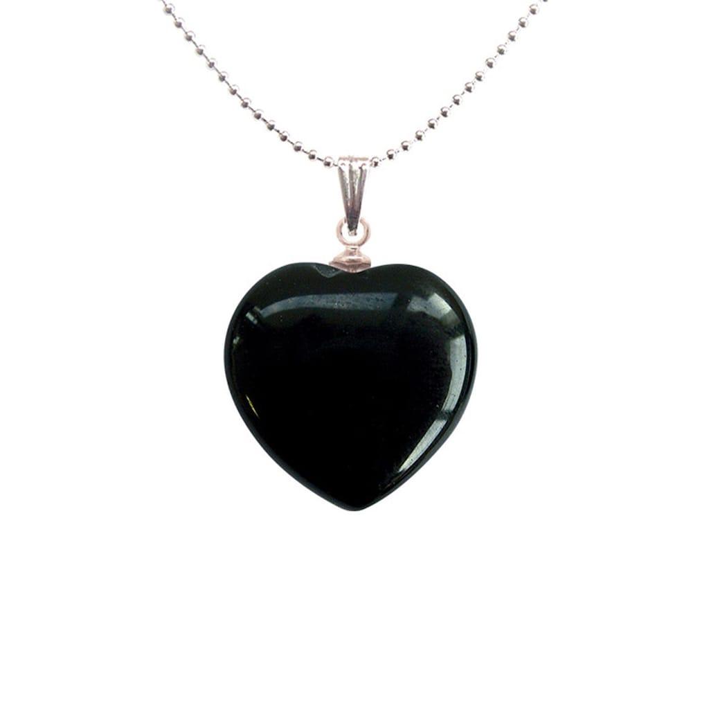 Adelia´s Amulett »Herz Steinanhänger«, Onyx Herzanhänger - steigert die Entschlossenheit
