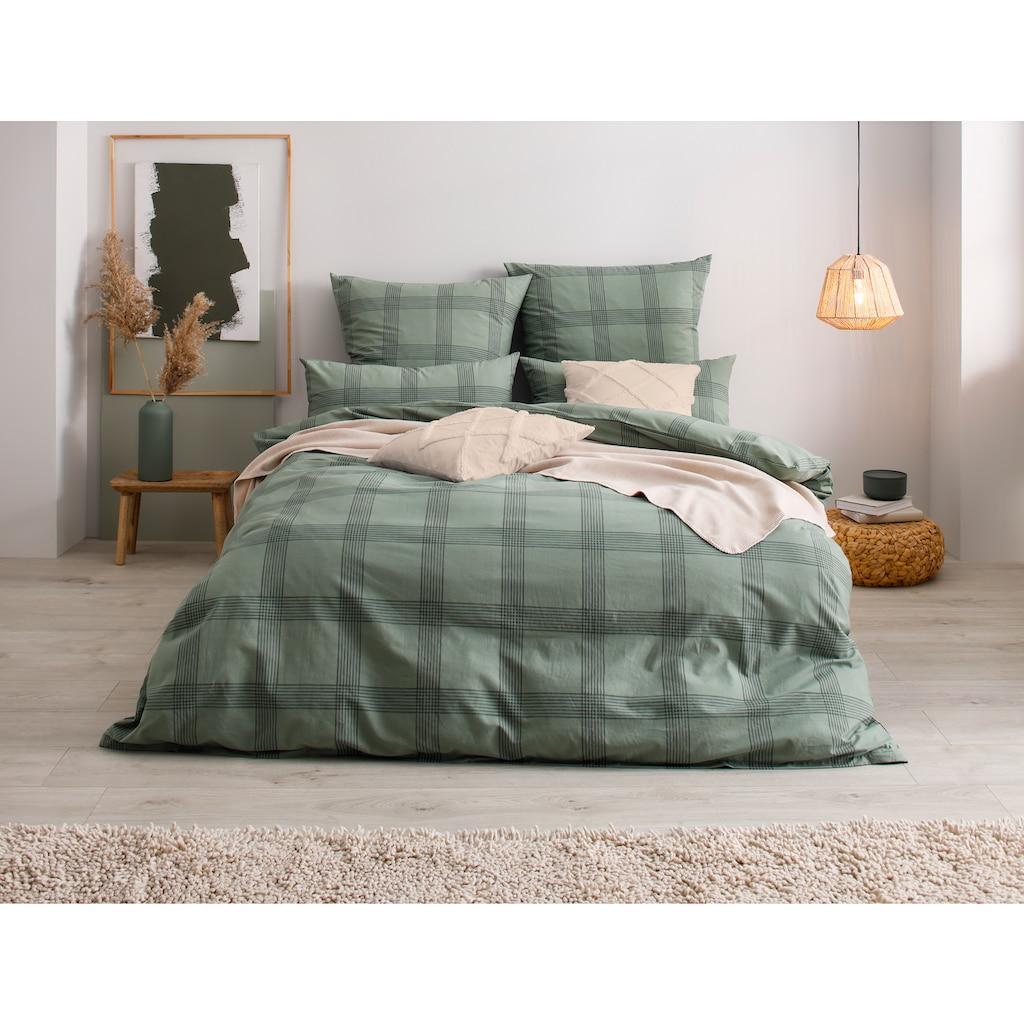 OTTO products Bettwäsche »Lennja«, mit dezentem Karomuster