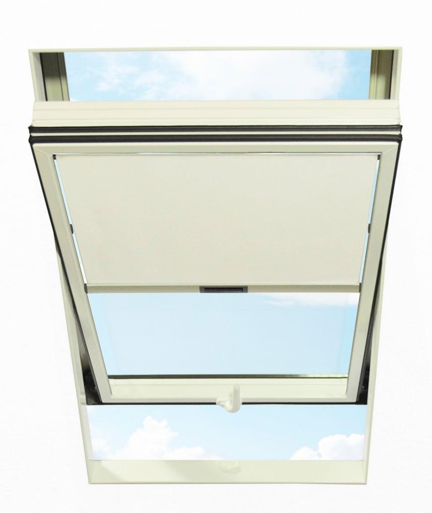 RORO Türen & Fenster Dachfensterrollo, Lichtschutz weiß Dachfensterrollos Rollos Jalousien Dachfensterrollo