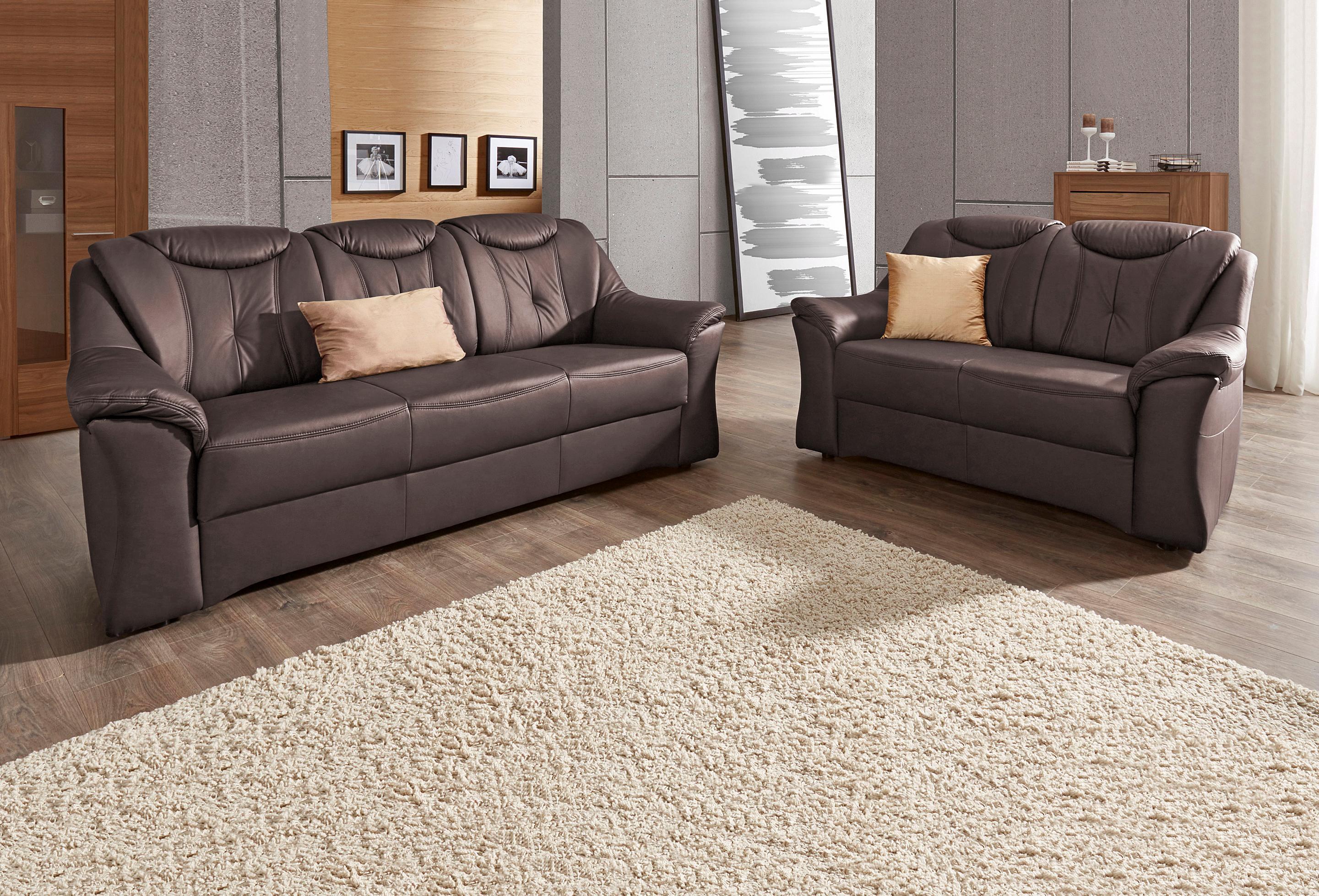 sit&more Garnitur 3- und 2-Sitzer mit komfortablem Federkern