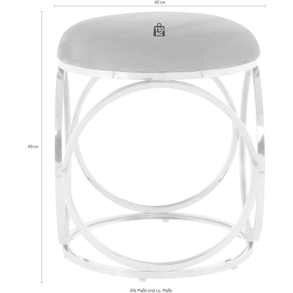 Kayoom Sitzhocker »Whitney 325«, Hocker mit offenem Design