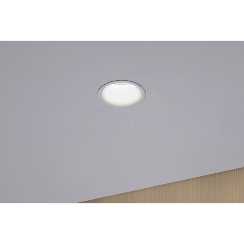 Paulmann LED Einbaustrahler »dimmbar Weiß matt 3x6,5W Cymbal blendfrei«, 3 St., Warmweiß