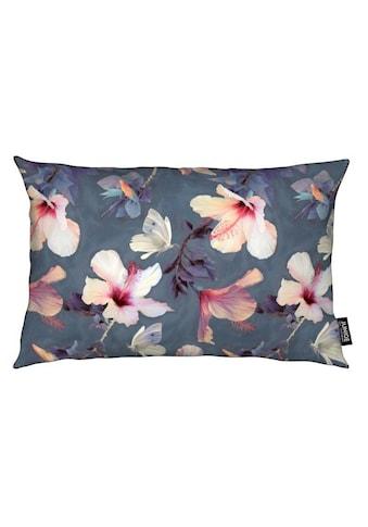Dekokissen, »Butterflies & Hibiscus Flowers«, Juniqe kaufen