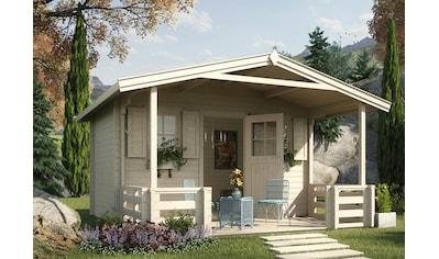 WEKA Set: Gartenhaus »138 B Gr.2«, BxT: 450x590 cm, inkl. Terrasse, Vordach und Fußboden kaufen