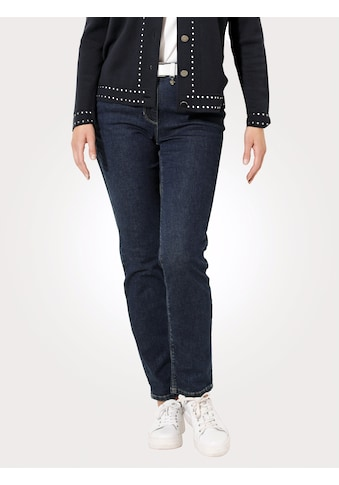 Mona Gerade Jeans, mit dekorativem Glanzgarn kaufen