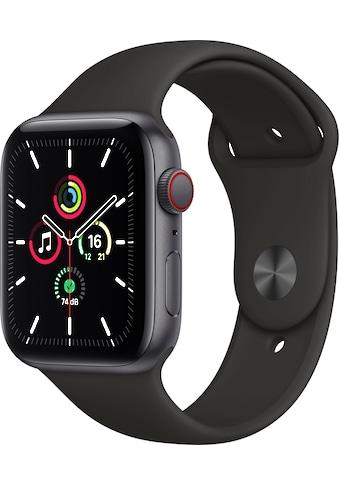 Apple Watch »SE GPS + Cellular, Aluminiumgehäuse mit Sportarmband 44mm«, ( inkl.... kaufen
