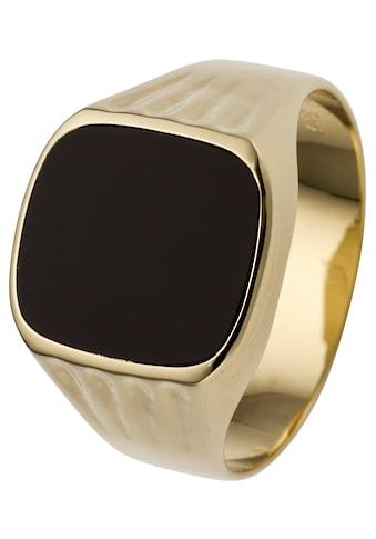 JOBO Fingerring, 585 Gold mit Onyx kaufen