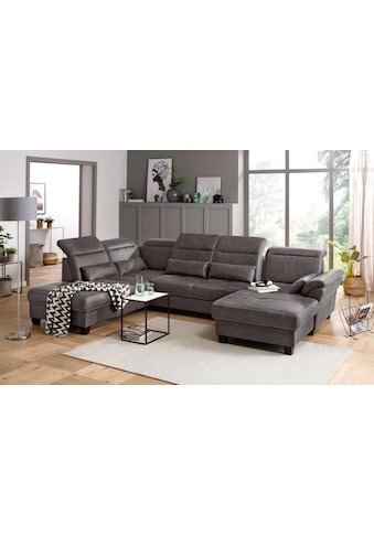 Premium collection by Home affaire Wohnlandschaft »Solvei«, incl. Sitztiefenverstellung und Federkern, wahlweise Kopfteilverstellung und Bettfunktion, Kontrastnaht kaufen