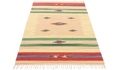 Teppich, »Kelim Mira«, carpetfine, rechteckig, Höhe 5 mm, handgewebt kaufen