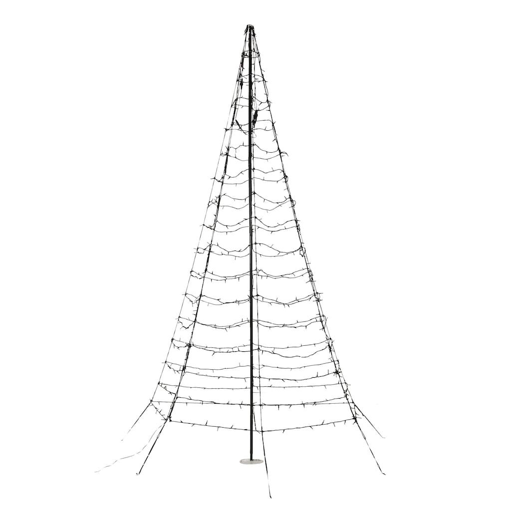 LED Baum »Galaxy«, Warmweiß, mit Aufstellmast, aus Metall und Kunststoff, mit warmweißen LEDs