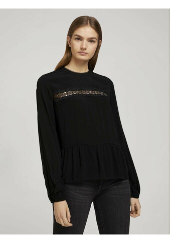 TOM TAILOR Denim Shirtbluse »Peplum Bluse« kaufen
