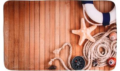 Sanilo Badematte »Maritime«, Höhe 15 mm, schnell trocknend, Memory Schaum kaufen