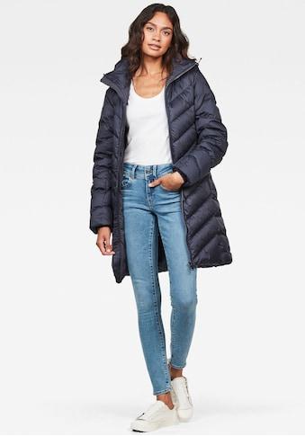 G-Star RAW Steppjacke »Whistler Slim Down Long Mantel«, modischer Damen Winter Steppjacke mit Kapuze kaufen