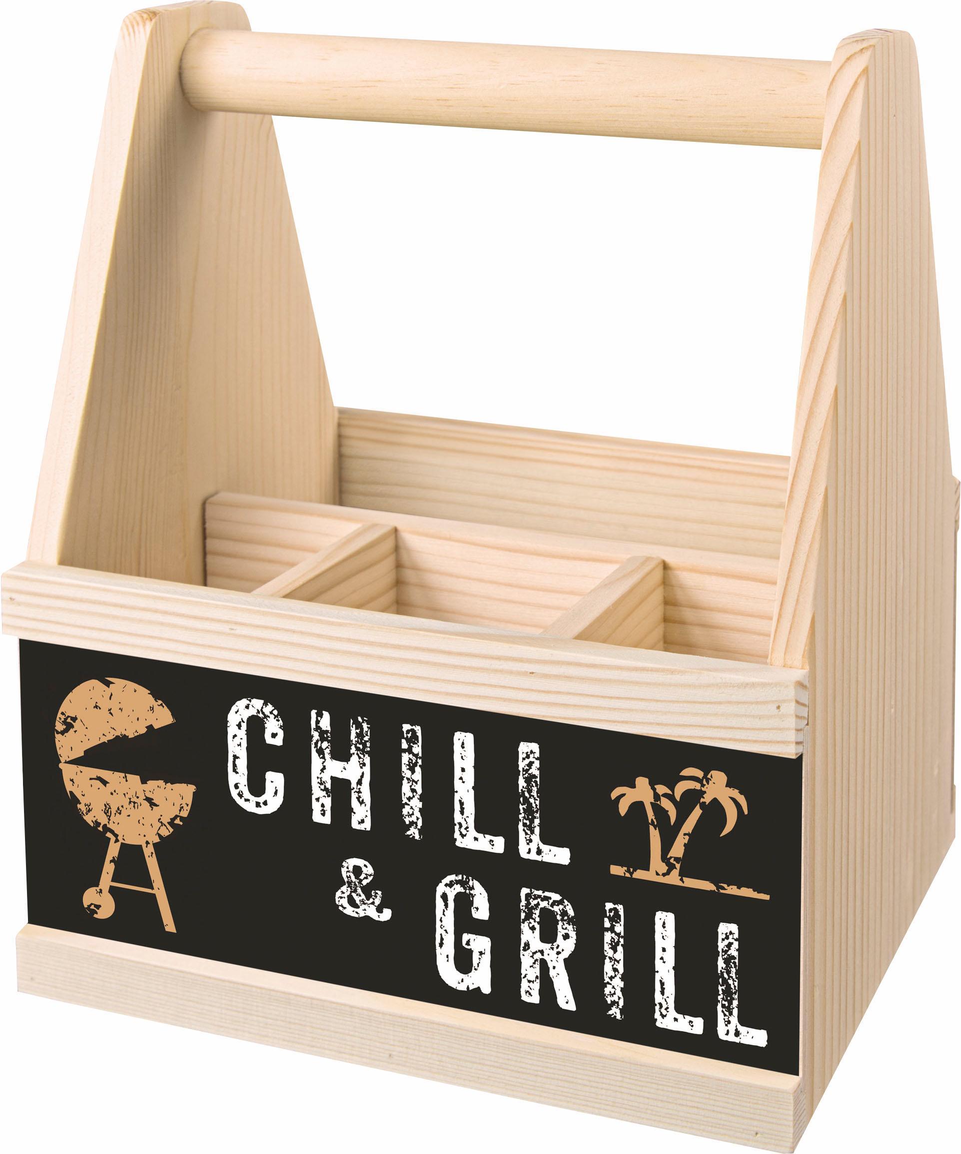 Contento Besteckträger Chill & Grill beige Küchen-Ordnungshelfer Küchenhelfer Küche