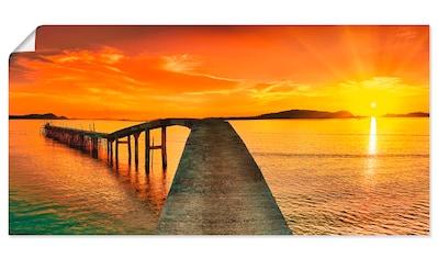 Artland Wandbild »Sonnenaufgang über dem Meer«, Gewässer, (1 St.), in vielen Größen & Produktarten - Alubild / Outdoorbild für den Außenbereich, Leinwandbild, Poster, Wandaufkleber / Wandtattoo auch für Badezimmer geeignet kaufen