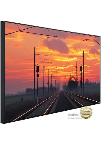 Papermoon Infrarotheizung »Zugschienen mit Sonnenuntergang«, sehr angenehme... kaufen