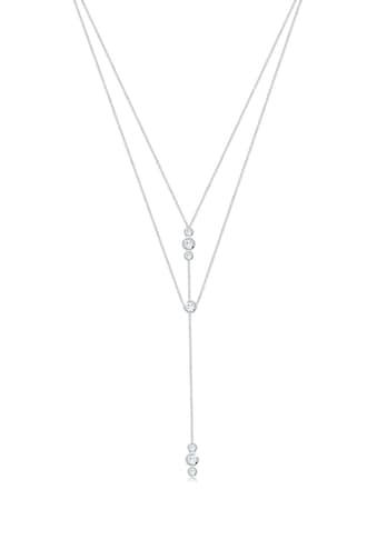 Elli Collierkettchen »Y - Kette Layer und Swarovski® Kristalle 925 Silber« kaufen