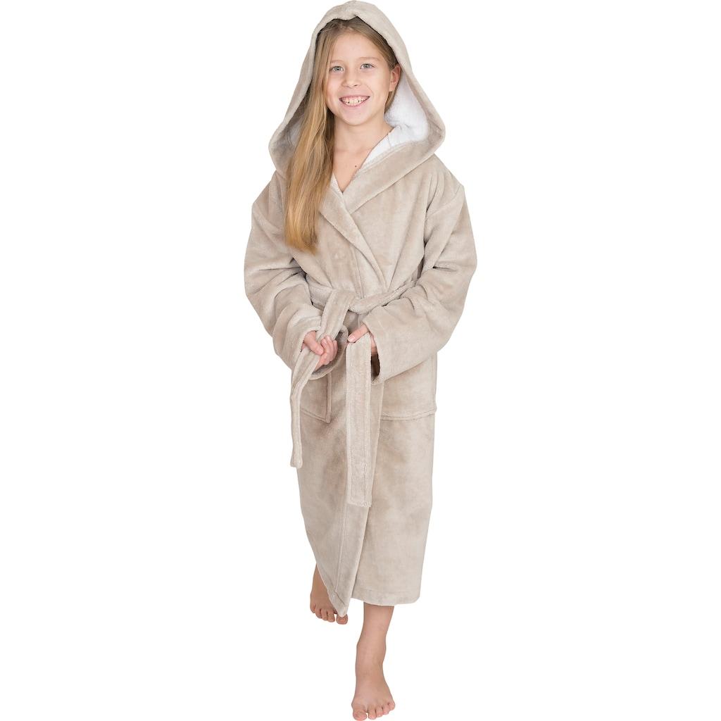 Wewo fashion Kinderbademantel »8521«, (1 St., mit Gürtel), mit Soft Touch