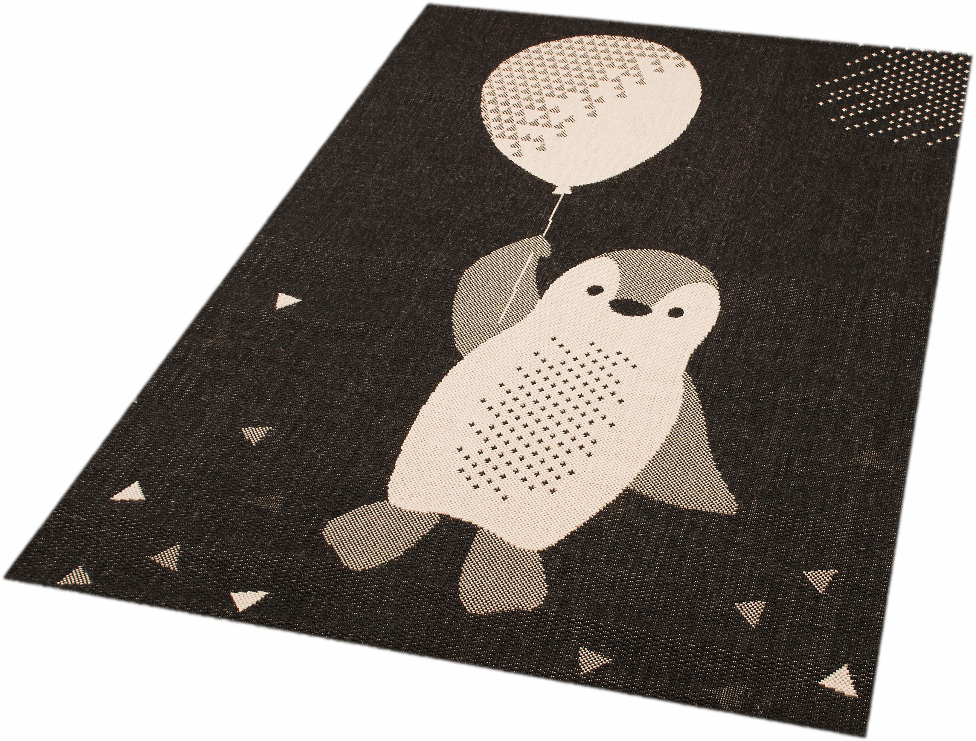 Kinderteppich Pinguin Rico Zala Living rechteckig Höhe 4 mm maschinell gewebt