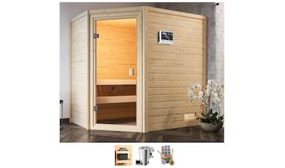 Karibu Sauna »Juli«, 3,6-kW-Bio-Plug & Play Ofen mit ext. Steuerung kaufen