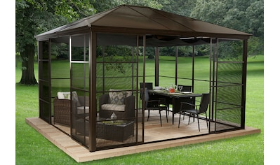 50NRTH Pavillon mit Seitenteilen »Castel 12x14«, BxL: 362x427 cm, inkl. Sonnensegel kaufen