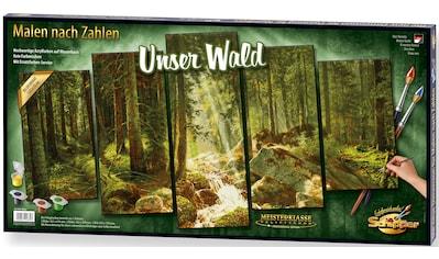 Schipper Malen nach Zahlen »Meisterklasse Polyptychon - Unser Wald«, Made in Germany kaufen