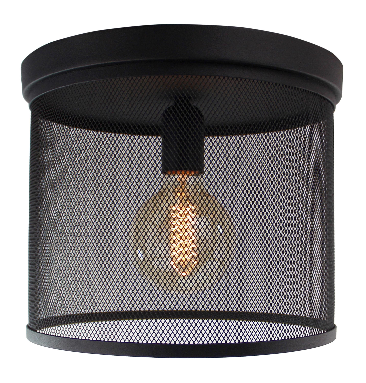 Brilliant Leuchten Deckenleuchten, E27, Tonno Deckenleuchte 1flg schwarz korund