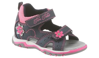 TOM TAILOR Sandale, mit süßer Blütenverzierung kaufen