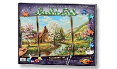 Schipper Malen nach Zahlen »Meisterklasse Triptychon - Ländliche Idylle«, Made in Germany kaufen