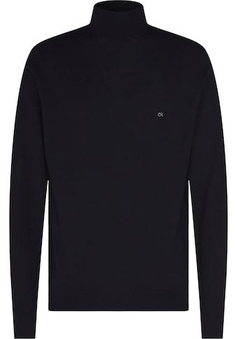 Calvin Klein Rollkragenpullover »SUPERIOR WOOL MOCK PULLOVER«, mit niedrigem Rollkragen kaufen