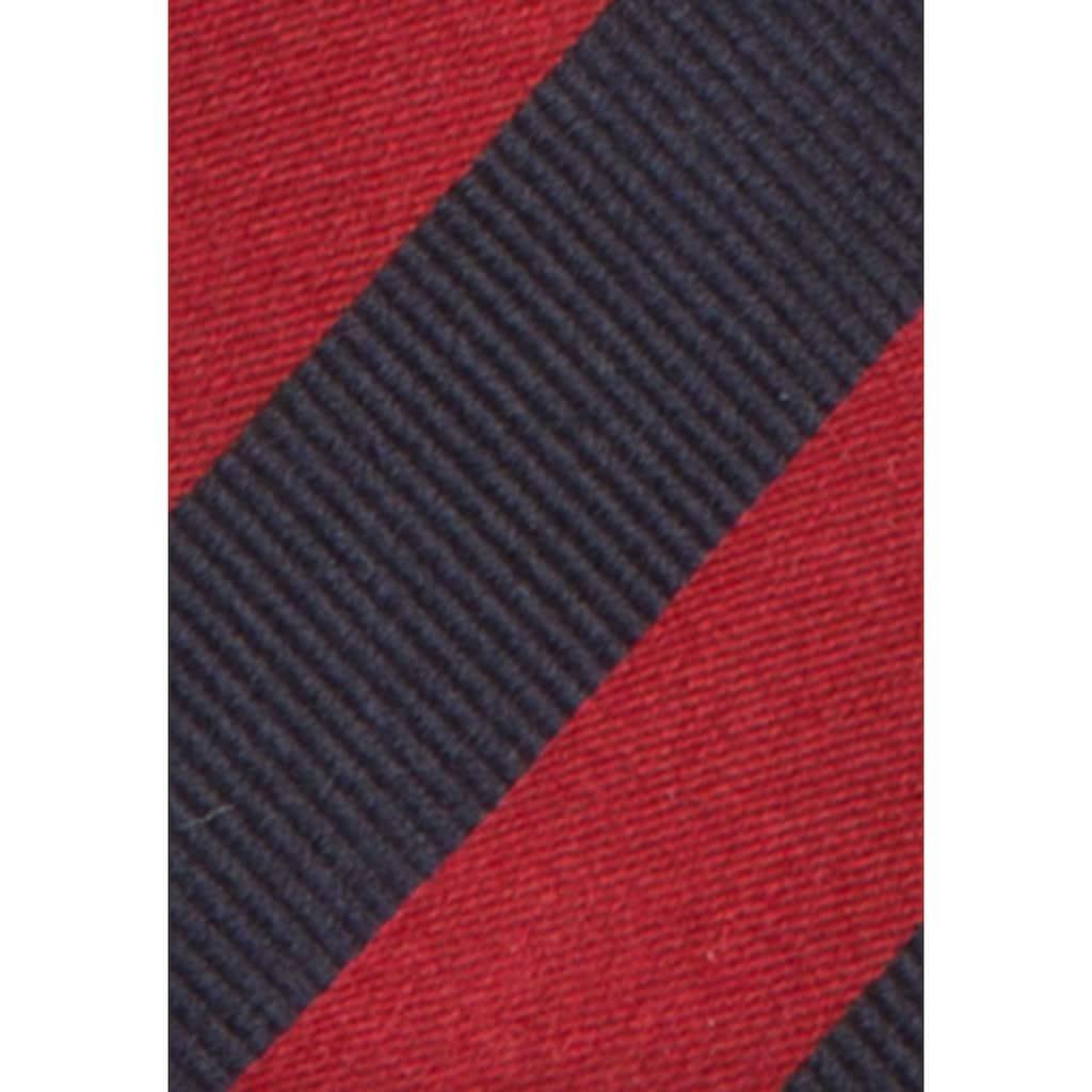seidensticker Krawatte »Schwarze Rose«, Breit (7cm) Streifen
