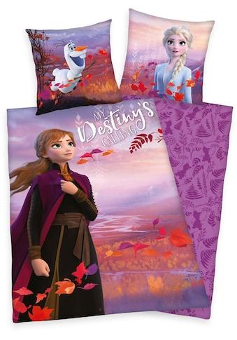Walt Disney Kinderbettwäsche »Disney´s Eiskönigin 2«, mit Anna, Elsa und Olaf kaufen