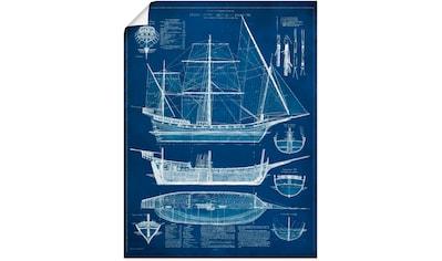Artland Wandbild »Entwurf für ein Antikes Schiff I« kaufen