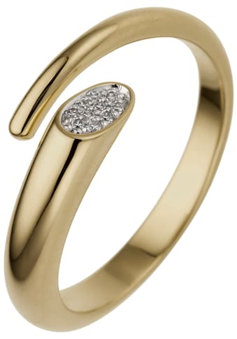 JOBO Fingerring, offen 585 Gold mit 10 Diamanten kaufen