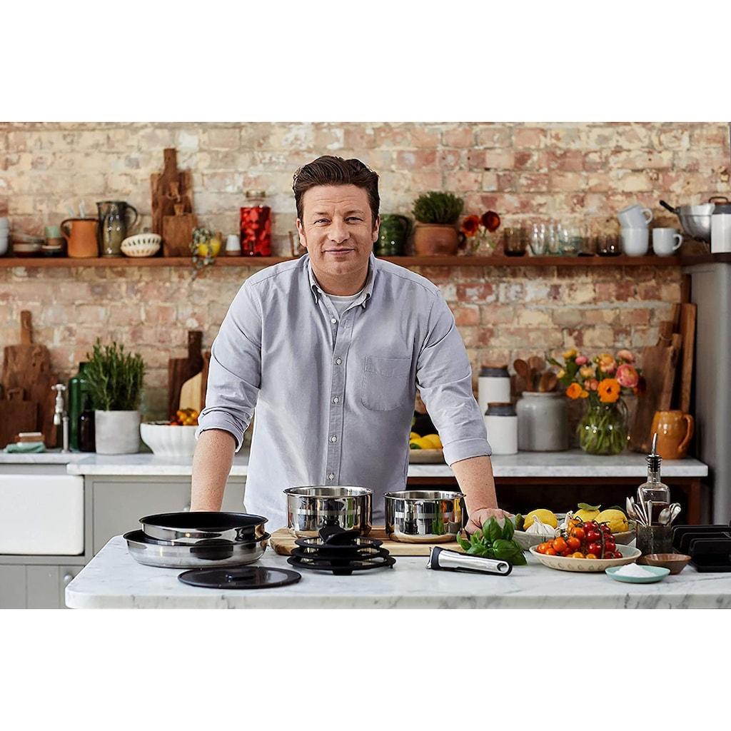 Tefal Pfannen-Set »Ingenio by Jamie Oliver, L95691«, Edelstahl, (Set, 9 tlg.), Edelstahl, Antihaft-Versiegelung, Platzsparend, Backofenfest, Induktionsgeeignet
