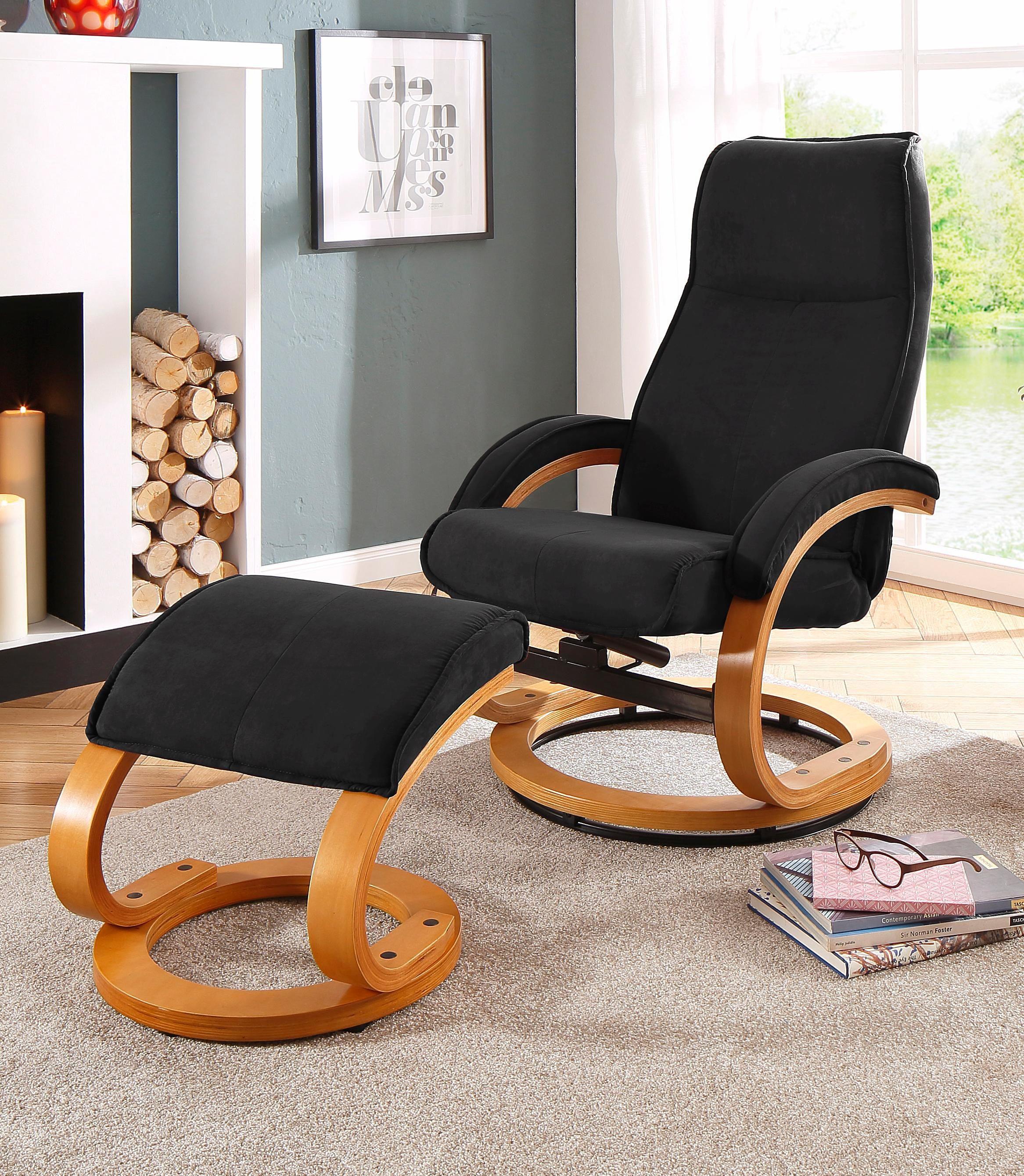 Home affaire Relaxsessel Paris (2-tlg bestehend aus Sessel und Hocker)