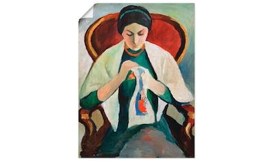 Artland Wandbild »Stickend Ehefrau des Künstlers am Sessel« kaufen