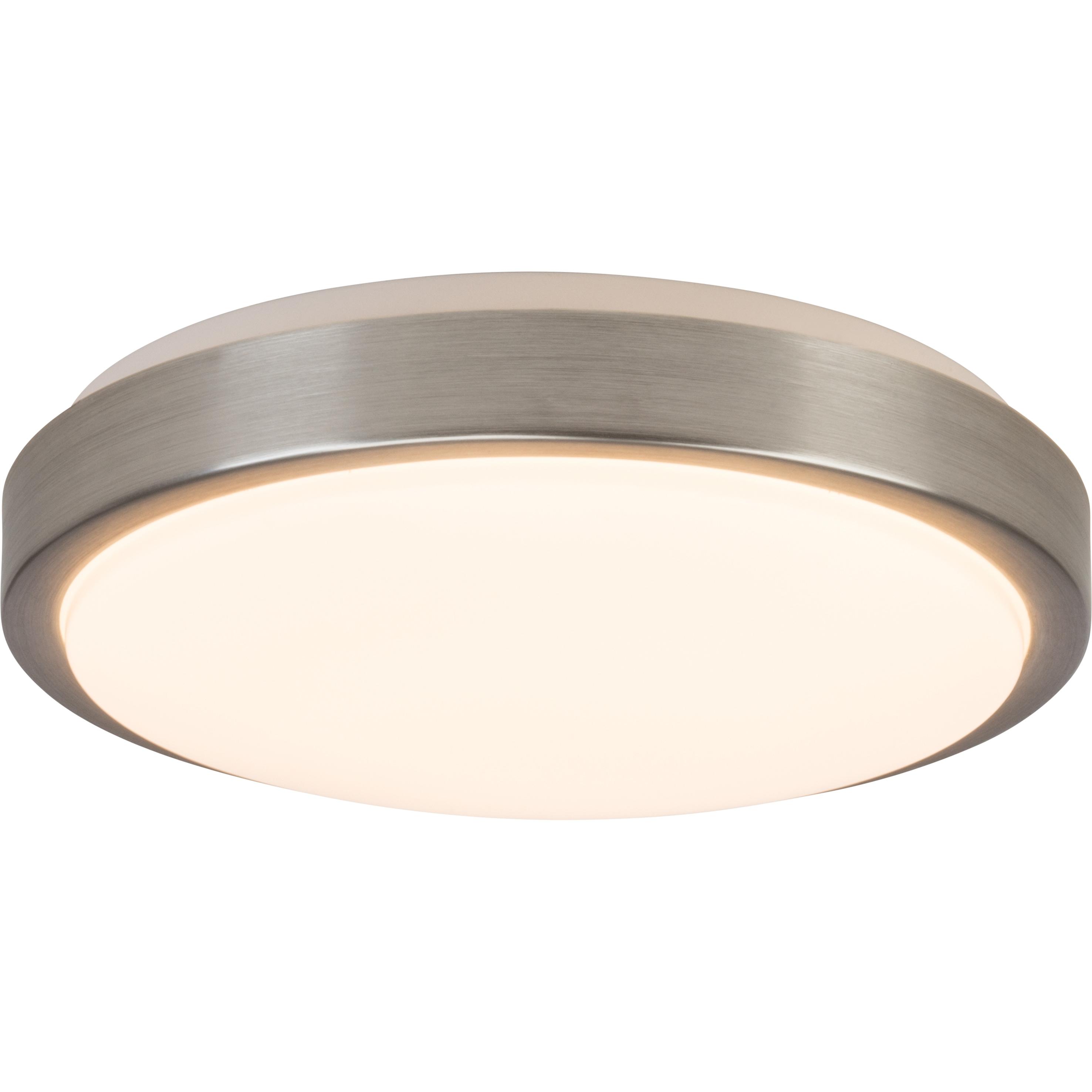 BreLight Livius LED Wand- und Deckenleuchte 30cm nickel/alu/weiß
