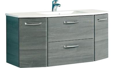 PELIPAL Waschtisch »Alika«, Breite 112 cm, Mineralgussbecken, Metallgriffe, Türdämpfer kaufen