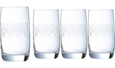Luminarc Longdrinkglas »Paradisio«, (Set, 4 tlg.), mit Pantographie-Optik, 4-teilig kaufen
