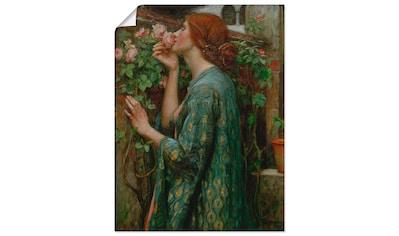 Artland Wandbild »Die Seele der Rose«, Frau, (1 St.), in vielen Größen & Produktarten... kaufen