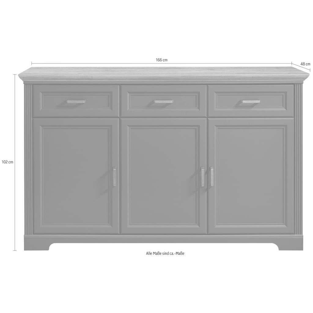 Innostyle Sideboard »Jasmin«, Breite 166 cm, 3 Holztüren, 3 Schubkästen