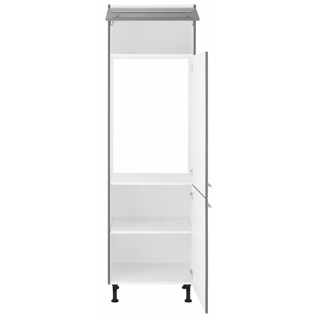 OPTIFIT Kühlumbauschrank »Bern«, 60 cm breit, 212 cm hoch, mit höhenverstellbaren Stellfüßen, mit Metallgriffen, geeignet für Einbaukühlschränke Nischenmaß 88