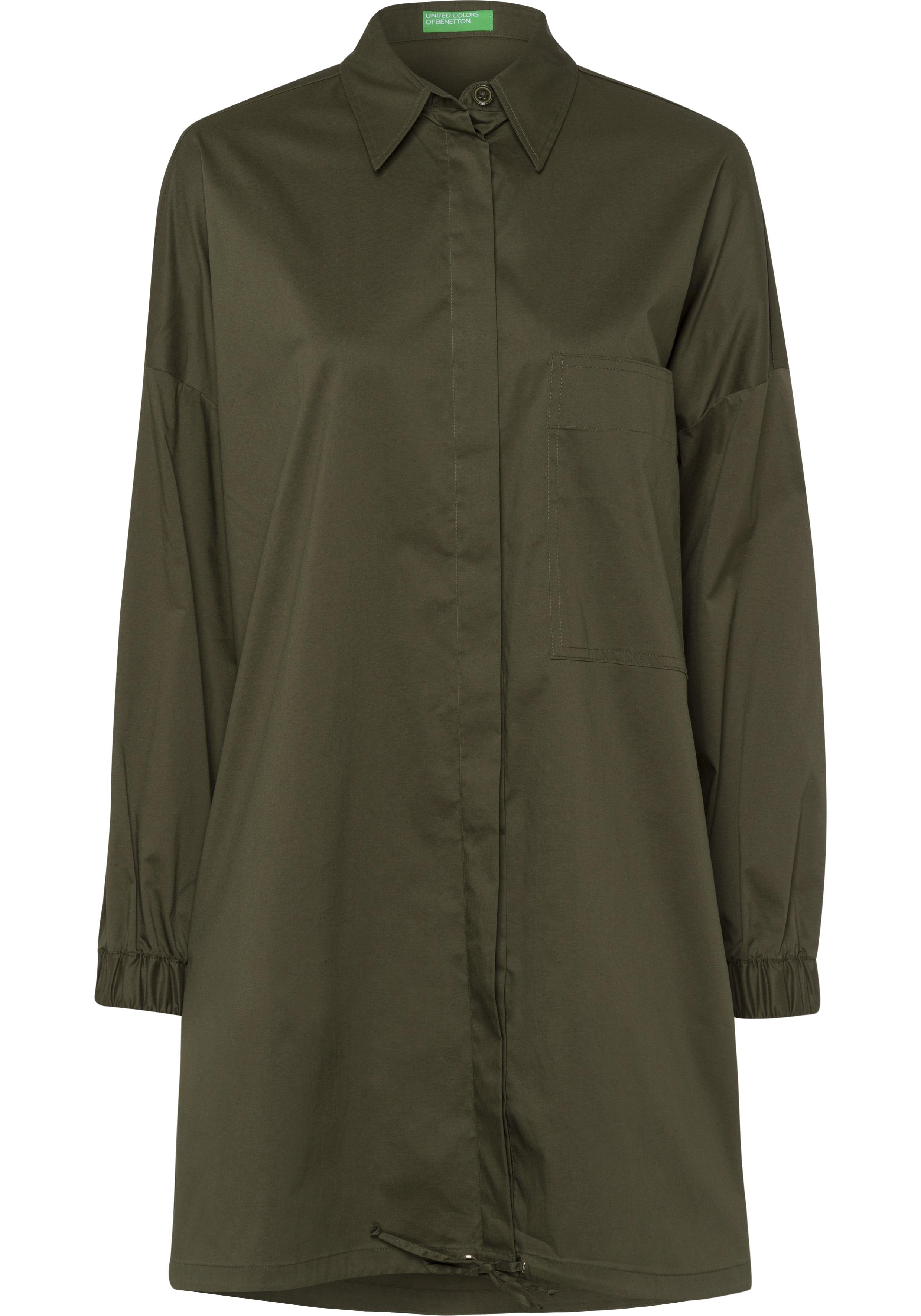 united colors of benetton -  Hemdblusenkleid, mit geraffter Rückenpassennaht