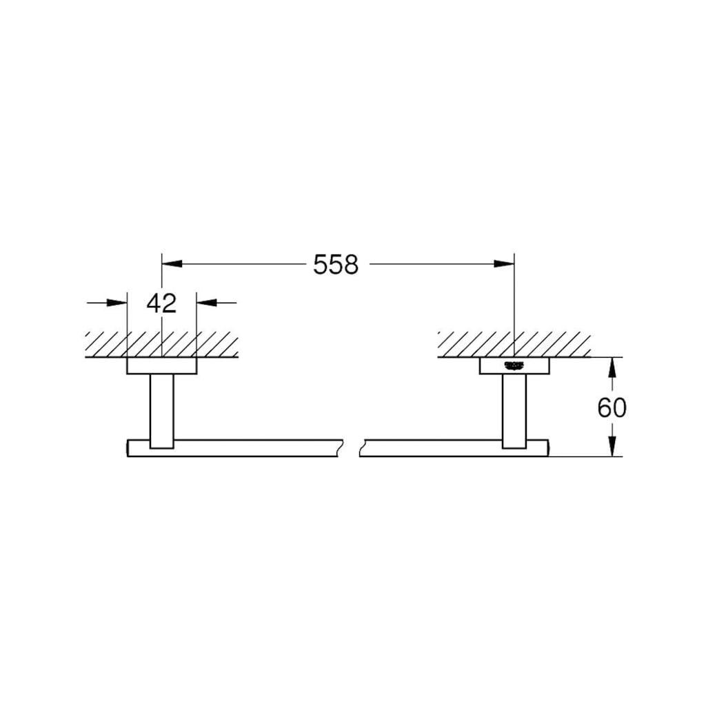 GROHE Handtuchhalter »Essentials Cube«, chrom