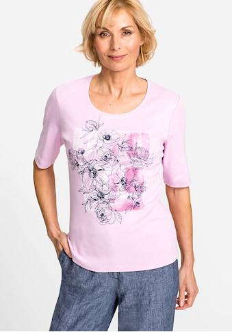 Olsen Rundhalsshirt, mit Blumen-Motiv kaufen