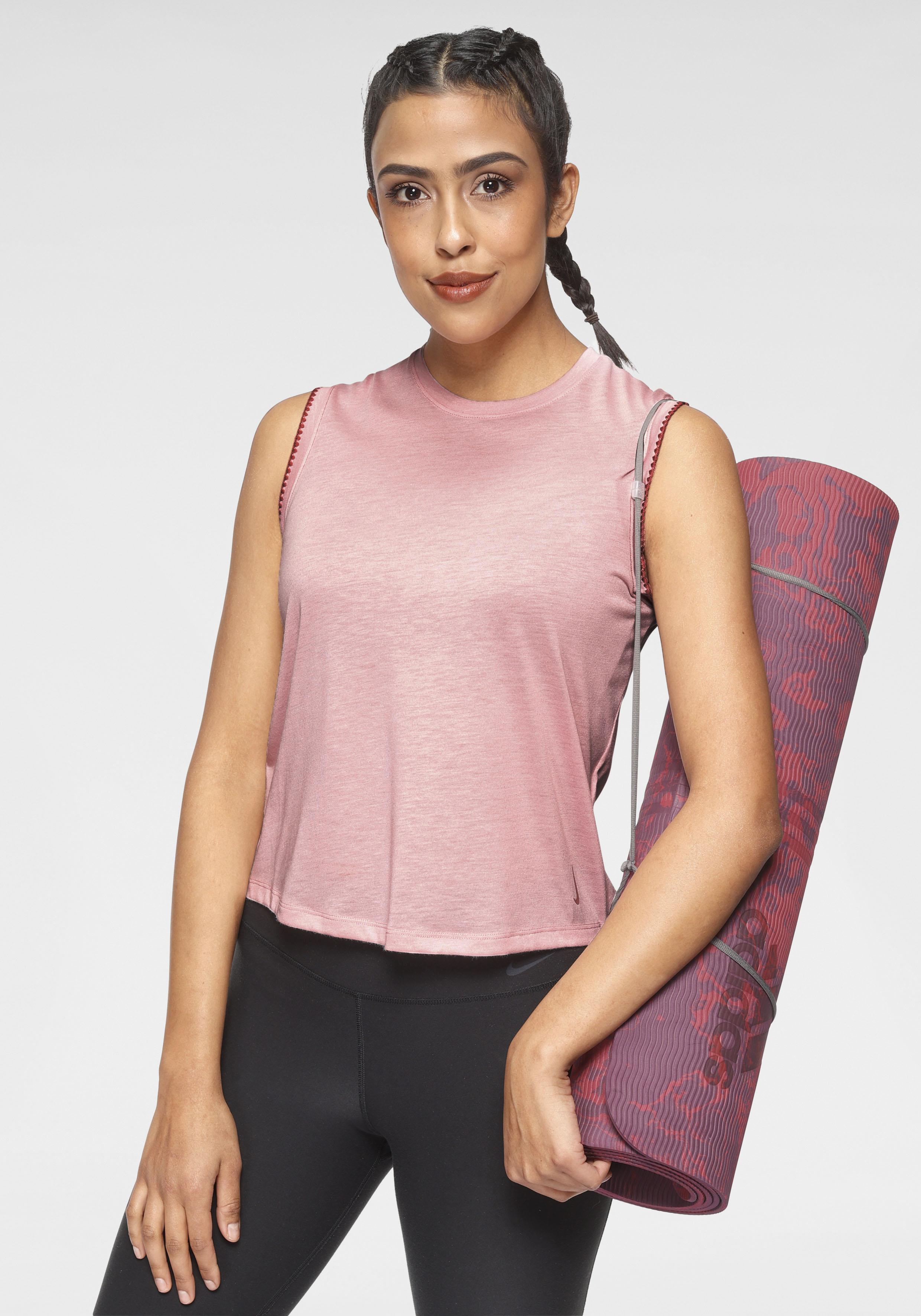 Nike Yogatop Yoga Women's Crochet Tank rosa Damen Bekleidung